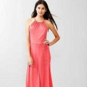 Gap Heather Pink Flowy Belt Tie Panel Maxi Dress